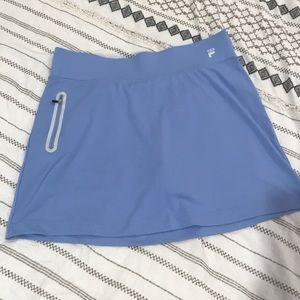 Fila sport light blue skort.  Worn one time!